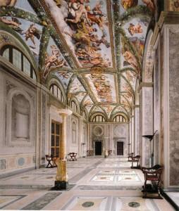 De Loggia van Cupido en Psyche in de Villa Farnesina Rome